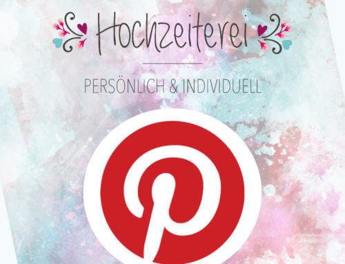 Hochzeiterei jetzt auch auf Pinterest
